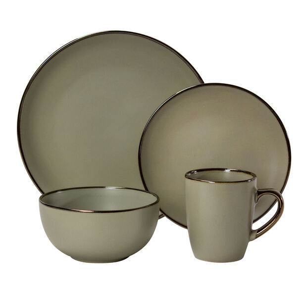 16 Pcs Dinner Set In Compact Box Beige image number 1
