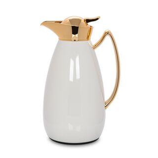 Dallety  Steel Flask White/Gold  1L
