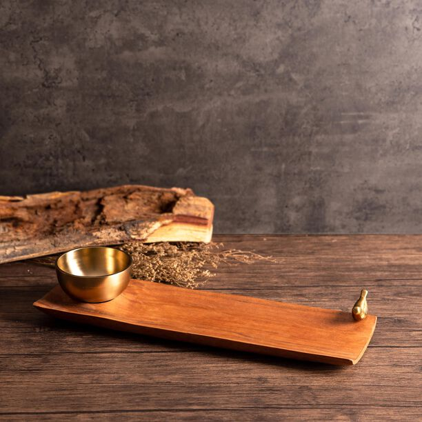 La Mesa Wooden Rectangle Chip N Dip image number 0