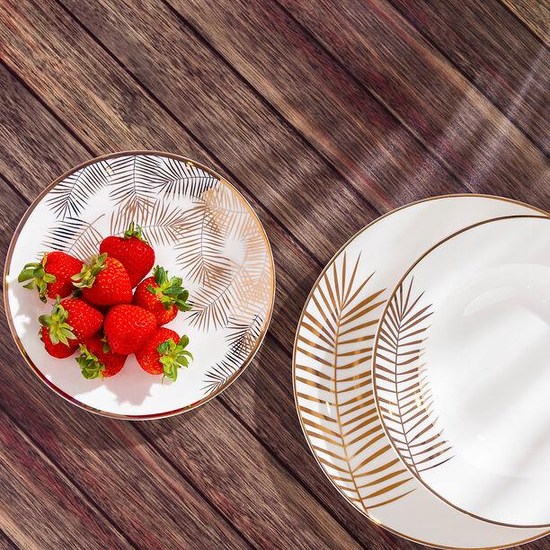 La Mesa Dinner Set 18 Pieces Gold Leaf  image number 0