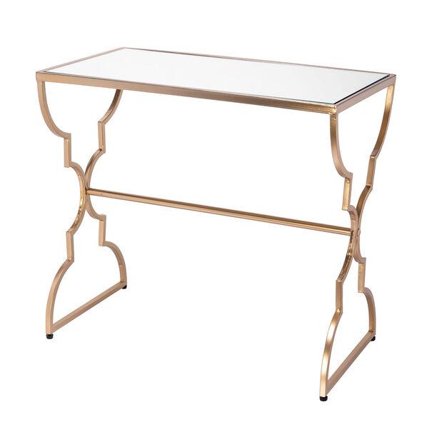 طقم طاولات جانبية من المعدن الذهبي image number 2