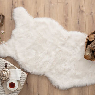 Cottage Faux Fur Ecru Beige 80X150