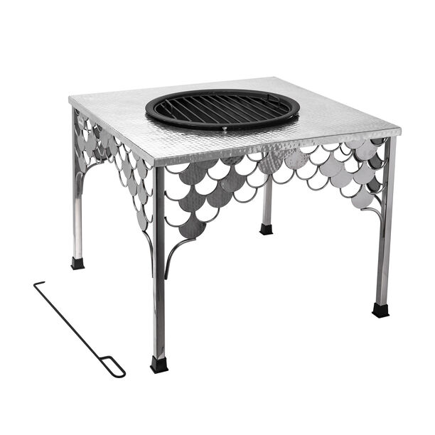 Fire Pit Round Stainless Steel And Iron image number 0