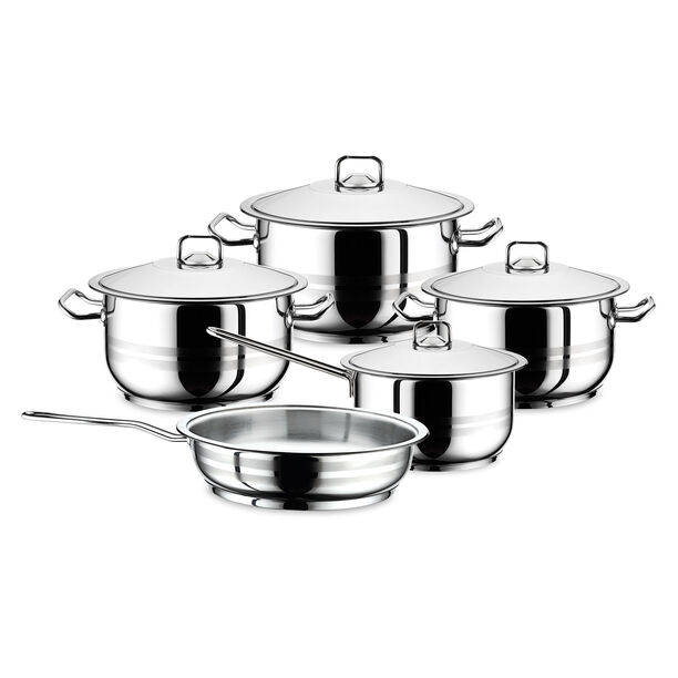 Gastro 9Pcs Cookware Set Stainless Steel image number 0