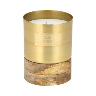 Votive Candle With Wooden Base