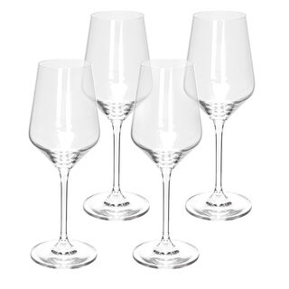 4 Pcs Set Stem Juice Clear Glass