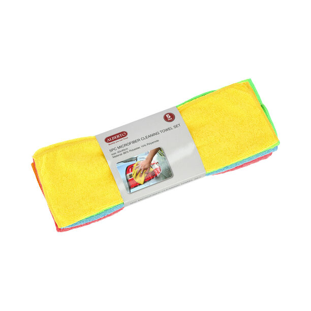 5 Pisces Microfiber Cleaning Towel Set  image number 3