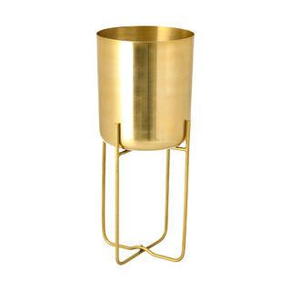 Aluminum Planter With Leg Gold
