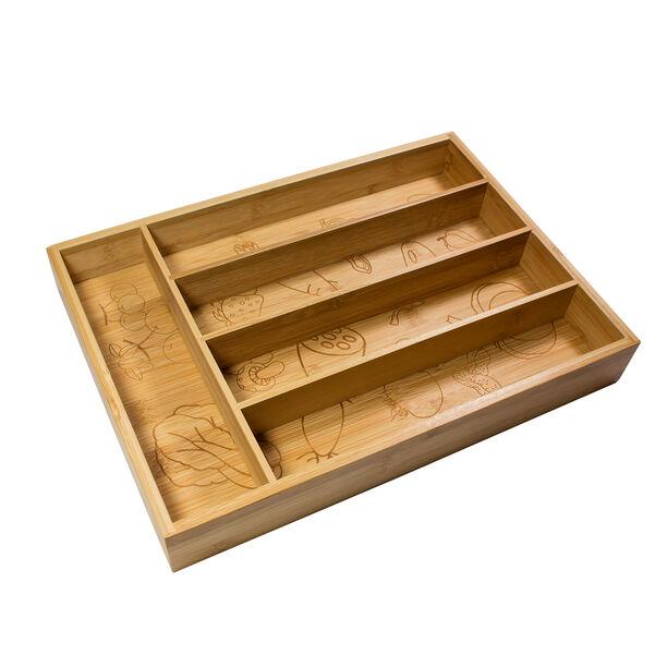 صندوق خشبي مقسّم لحفظ ادوات المائدة من البرتو image number 0
