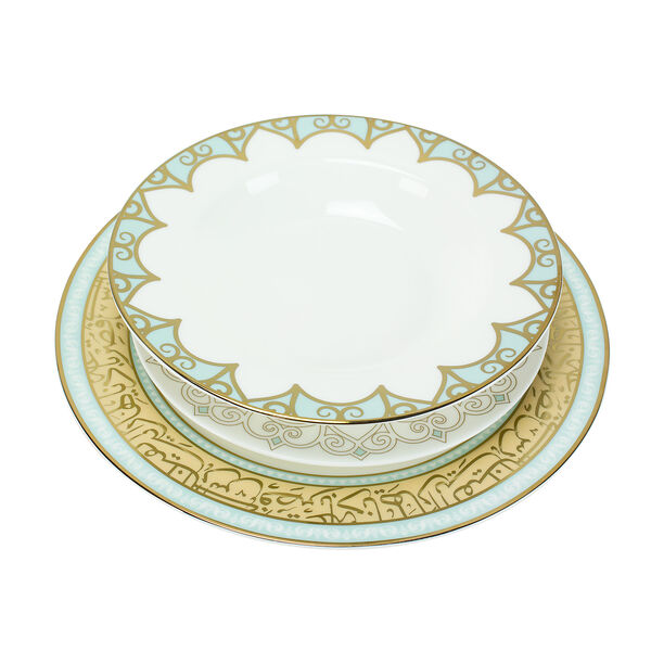 18 Pcs Porcelain DinnerSet image number 1