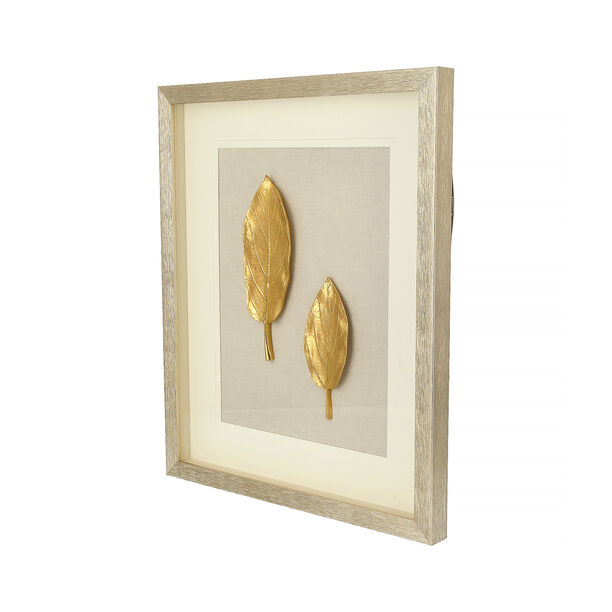 Shadow Box With Frame Golden Leaf Silver image number 1