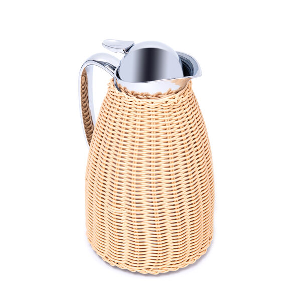 Dallety Stainless Steel Vacuum Flask Design Of Bamboo Light Beige 1L image number 1