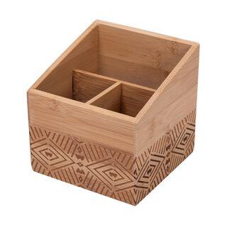 Bamboo Carved Utensil Box