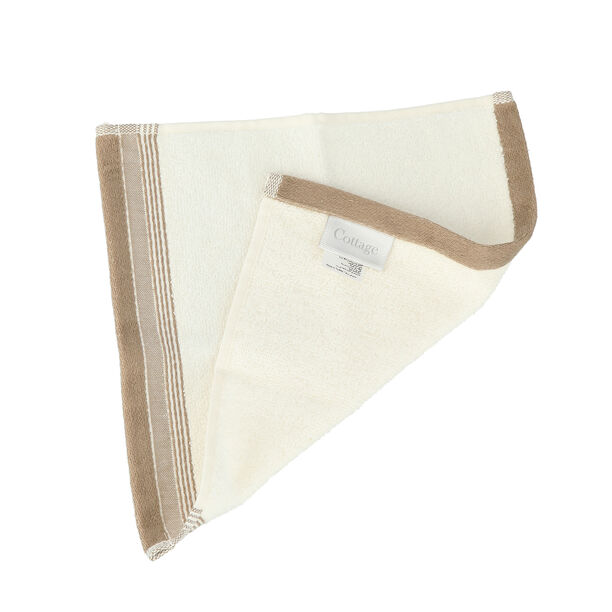 Striped Border Terry Hand Towel 30*30 Cm image number 1