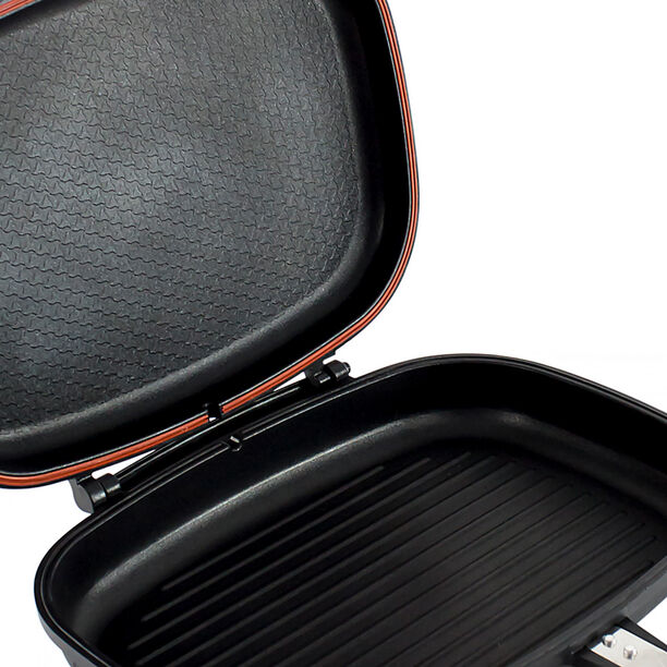 مقلاة ضغط مزدوجة من الجانبين لون أسود من البرتو image number 2