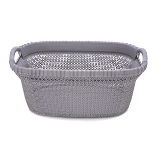 Knit Laundry Basket 37L Grey