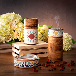 Oud Burner Wood Arabesque