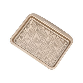 Alberto Non Stick Lamington Tray, Gold Color