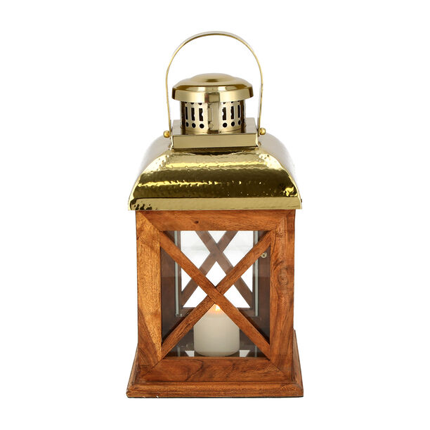 Lantern Wood And Steel Natural & Shiny image number 2