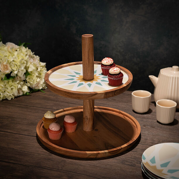 Arabesque 2 Tier Serving Stand Top image number 0