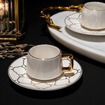 12 Pcs Porcelain Turkish Coffee Set Dutone image number 1