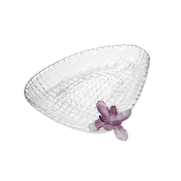 La Mesa Glass Plate With Violet Crystal Flower 37 Cm image number 1