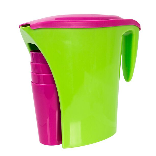 Pitcher With Four Cup Set image number 0