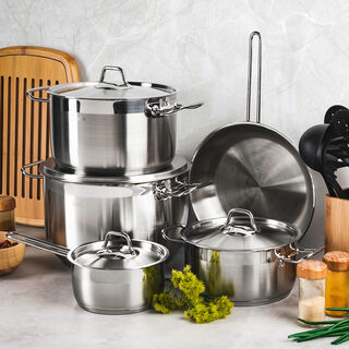 Stainless Steel 9 Pcs Cookware Set