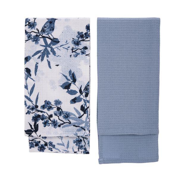 Cottage 2 Pieces Kitchen Towel Set L: 60 * W: 40Cm Spring Design Blue Color image number 1
