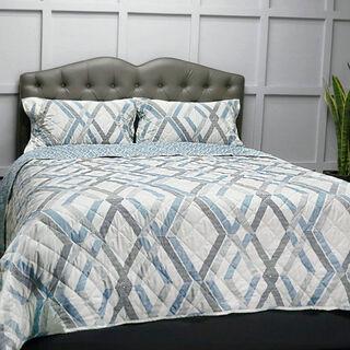 Cottage 3 Pieces Microfiber Comforter King Size Blue