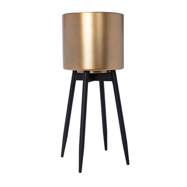 Planter With Stand Metal Gold image number 1