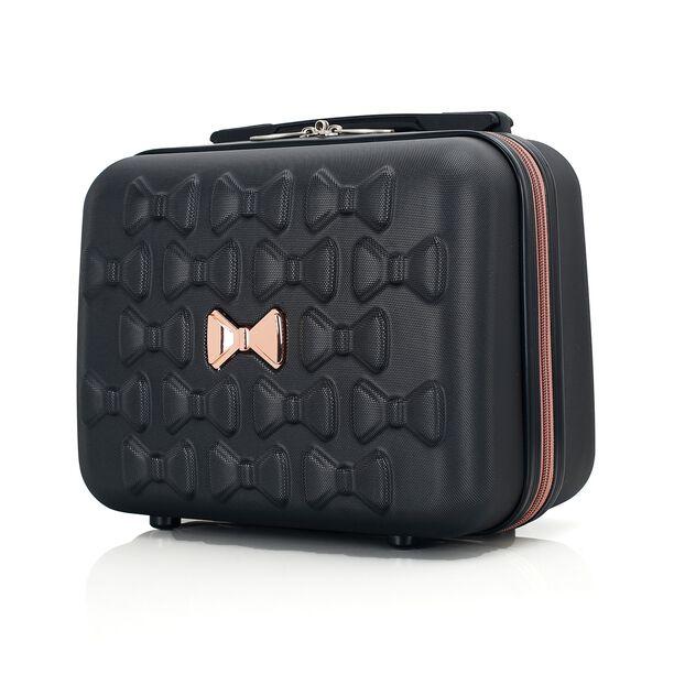 Travel Vision Set Of 4 Butterfly+Vanity Bag Black  image number 7