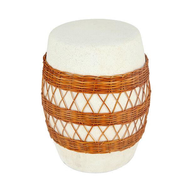 Ceramic Stool With Ratan Design image number 1