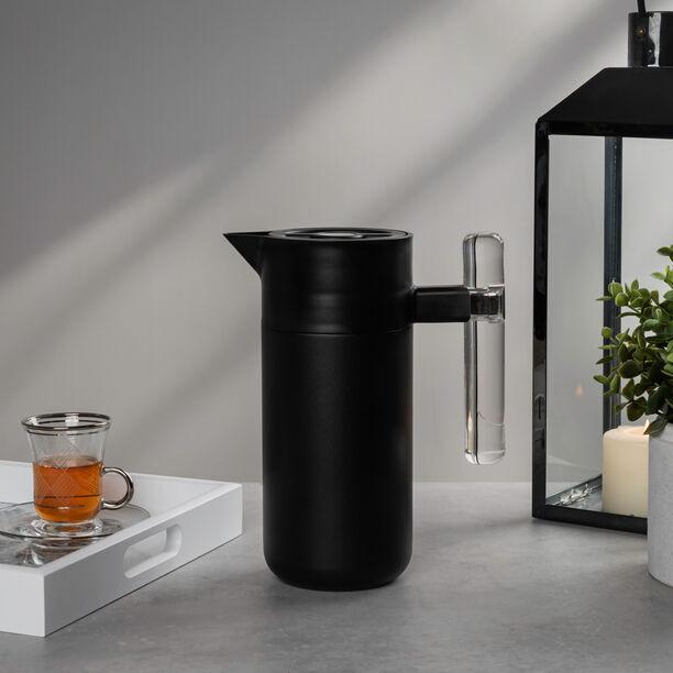 Steel Vacuum Flask 1.2L Arab Graph Black image number 1