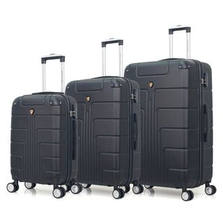 "Travel Vision Pegani Set Of 3 20/26/30"" Black Exclusive Model"