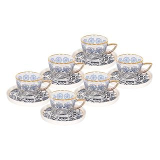 La Mesa Glass Tea Cup Set 12 Pieces