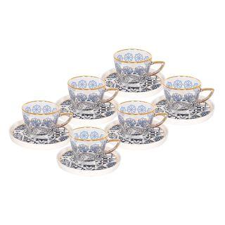 طقم أكواب شاي زجاج 12 قطعة من لاميسا