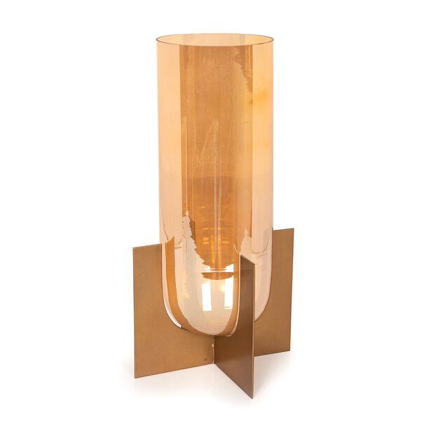 حامل شمعة من الزجاج و المعدن image number 0
