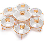 7 Pcs Round Food Warmer With Stand image number 2
