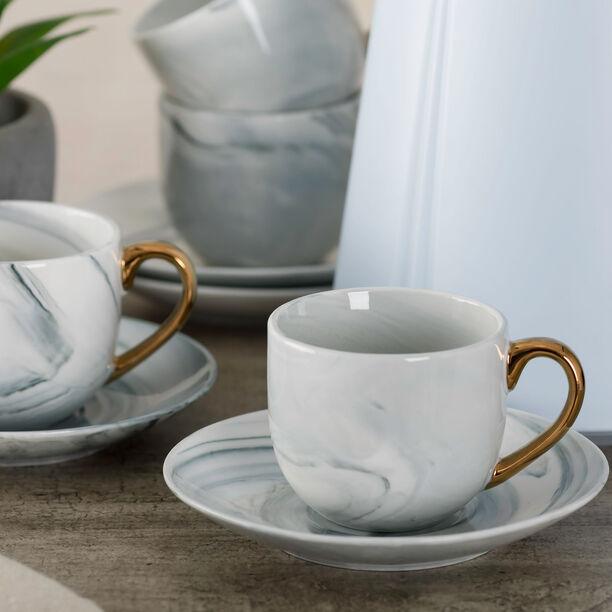 طقم أكواب قهوة مع قاعدة من لا ميسا   12 قطعة image number 3