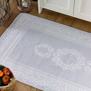 Cottage Cotton Chenille Rug Blue