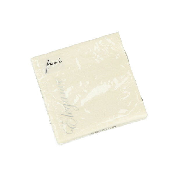 Elegance Serving Napkins Paper Square Cream image number 0