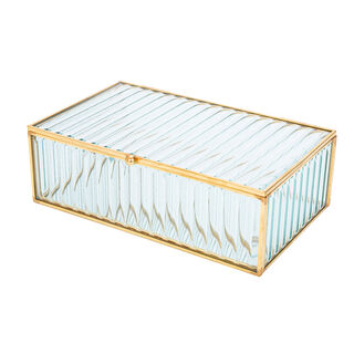 Glass Jewelry Box 20X12X6.5 Cm