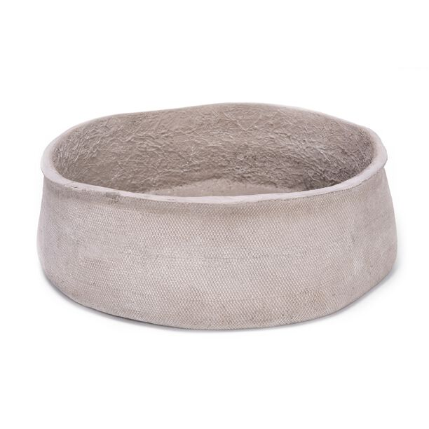 CEMENT PLANTER BOWL TAUPE image number 1