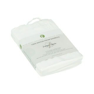 Boutique Blanche Bamboo Fitted Sheet 120X200+35 Cm White