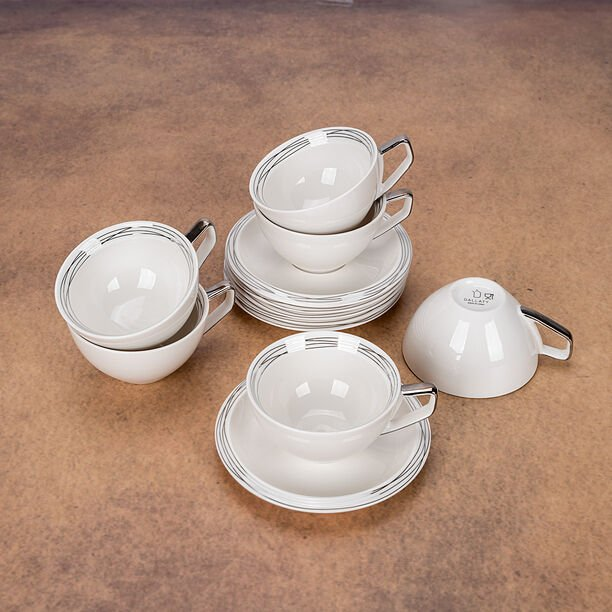 English Tea Cups Set Silver 250 Ml image number 2