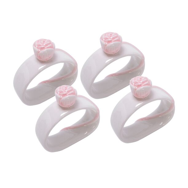 Dolomite 4 Pieces Napkin Ring Pink image number 0
