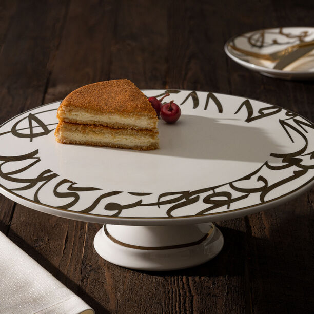 La Mesa Porcelain Cake Stand Kan Ya Makan Gold 30 image number 1