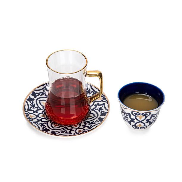 طقم شاي وقهوة عربي بورسلان 18 قطعة image number 2