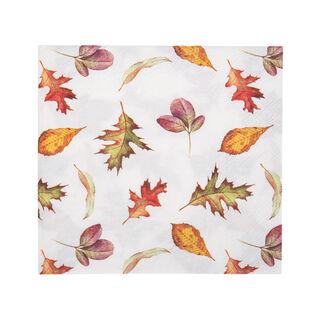 Ambiente Serving PaperNapkinsFalling Leaves Design Vanilla Color